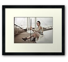 Star Wars The Force Awakens - Rey Cosplay Framed Print
