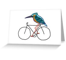 Kingfisher on a Bicycle Greeting Card