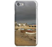 Approaching storm for St Ives harbour  iPhone Case/Skin