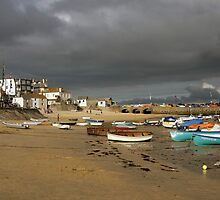 Approaching storm for St Ives harbour  by Grace Johnson