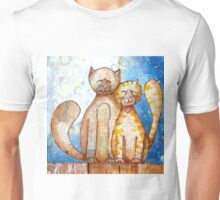 Cuddy Cats in the Moonlight Unisex T-Shirt