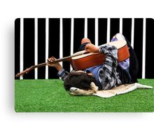 Tired Musician Canvas Print