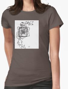 Wild flora framed 2.0 Womens Fitted T-Shirt