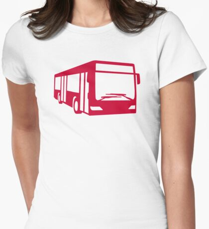 Red bus Womens Fitted T-Shirt