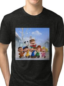 the peanuts charlie brown and friends wulan Tri-blend T-Shirt