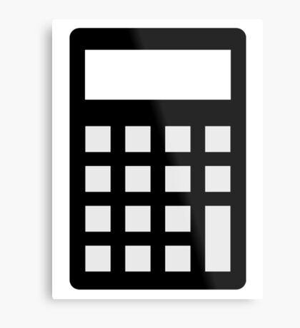 Calculator Metal Print