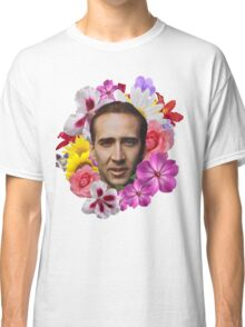 Nicolas Cage - Floral Classic T-Shirt