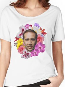 Nicolas Cage - Floral Women's Relaxed Fit T-Shirt
