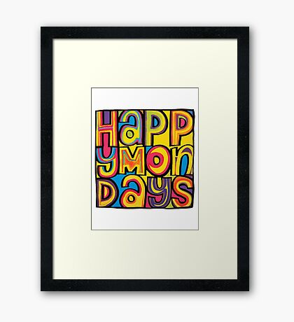 Happy Mondays Logo Framed Print