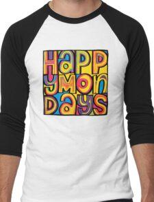 Happy Mondays Logo Men's Baseball ¾ T-Shirt