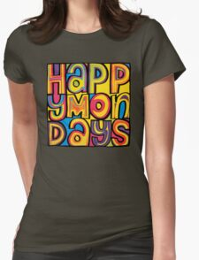 Happy Mondays Logo Womens Fitted T-Shirt