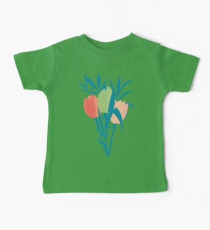 Spring flower pattern, tulips and lilies, 006 Baby Tee