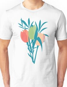 Spring flower pattern, tulips and lilies, 006 Unisex T-Shirt