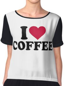 I love coffee Chiffon Top