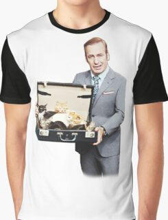 Saul Goodman's Cat Box Graphic T-Shirt