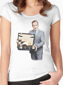 Saul Goodman's Cat Box Women's Fitted Scoop T-Shirt