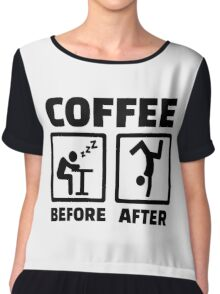 Coffee before after Chiffon Top