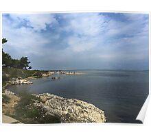 Ocean in Croatia Poster