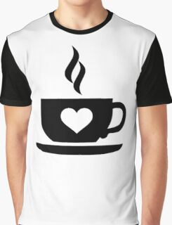 Coffee cup heart Graphic T-Shirt
