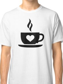 Coffee cup heart Classic T-Shirt