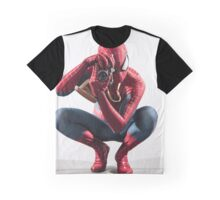 Spider Man Photograph Graphic T-Shirt