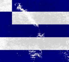 Greece vintage flag Sticker