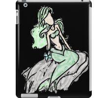 mermaid (green) watercolor 2 iPad Case/Skin