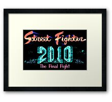 Street Fighter 2010 - NES Title Screen Framed Print
