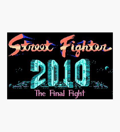 Street Fighter 2010 - NES Title Screen Photographic Print