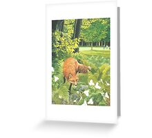 Sly Green Greeting Card