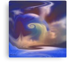 Misty blue- abstract  Art + Products Design  Canvas Print