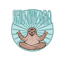 Chill Out Sloth Photographic Print