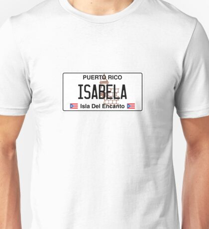 PR License Plate - Isabela Unisex T-Shirt