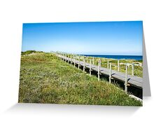 Way to the beach Greeting Card