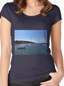 Boats In Dubrovnik - Croatia Women's Fitted Scoop T-Shirt
