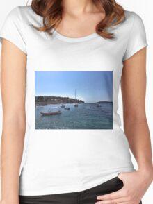 Boats In Dubrovnik - Croatia Women's Fitted Scoop T-Shirt