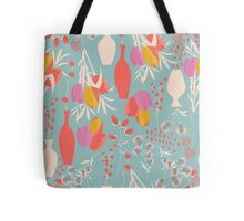 Spring flower pattern, tulips and lilies, 004 Tote Bag