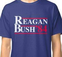 Reagan Bush '84 Retro Logo Red White Blue Election Ronald George 1984 84 Classic T-Shirt