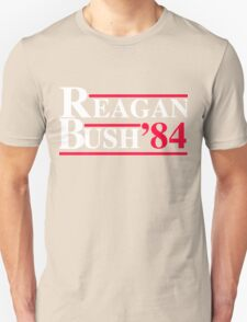 Reagan Bush '84 Retro Logo Unisex T-Shirt