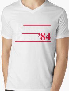 Reagan Bush '84 Retro Logo Mens V-Neck T-Shirt