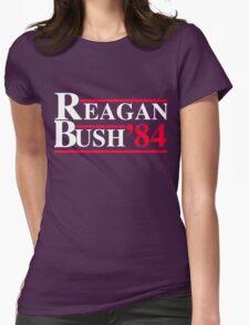 Reagan Bush '84 Retro Logo Womens Fitted T-Shirt