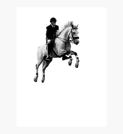 Horse jumping Photographic Print
