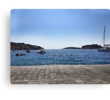 Ocean in Croatia Canvas Print