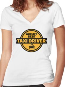 World's best taxi driver Women's Fitted V-Neck T-Shirt
