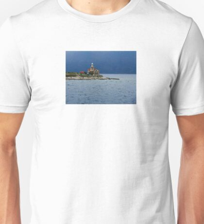 The Plocica lighthouse in the Mediterranean Unisex T-Shirt