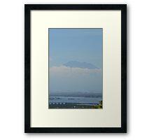 Gunung Batur a stratovolcano Framed Print