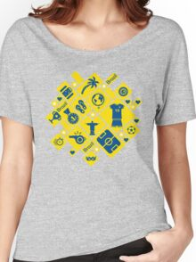 Brazil football icons Women's Relaxed Fit T-Shirt