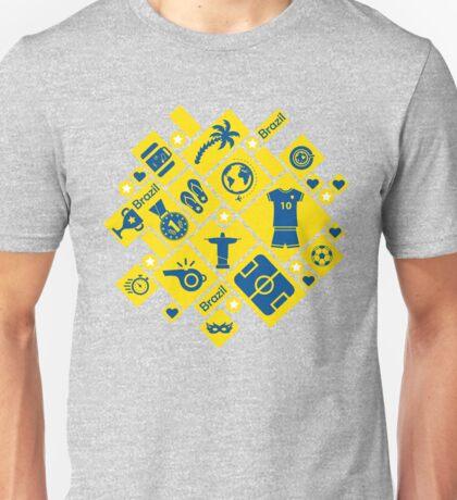 Brazil football icons Unisex T-Shirt