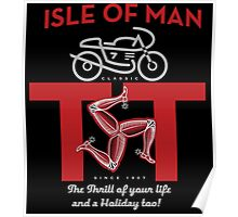 Isle of Man TT  Classic Motorcycle races Poster