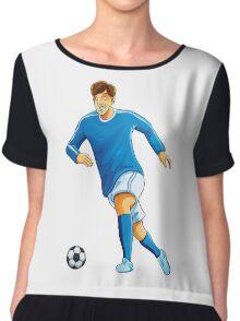 Italian player dribble a ball Chiffon Top